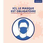 Consignes Covid-19 Port du masque obligatoire